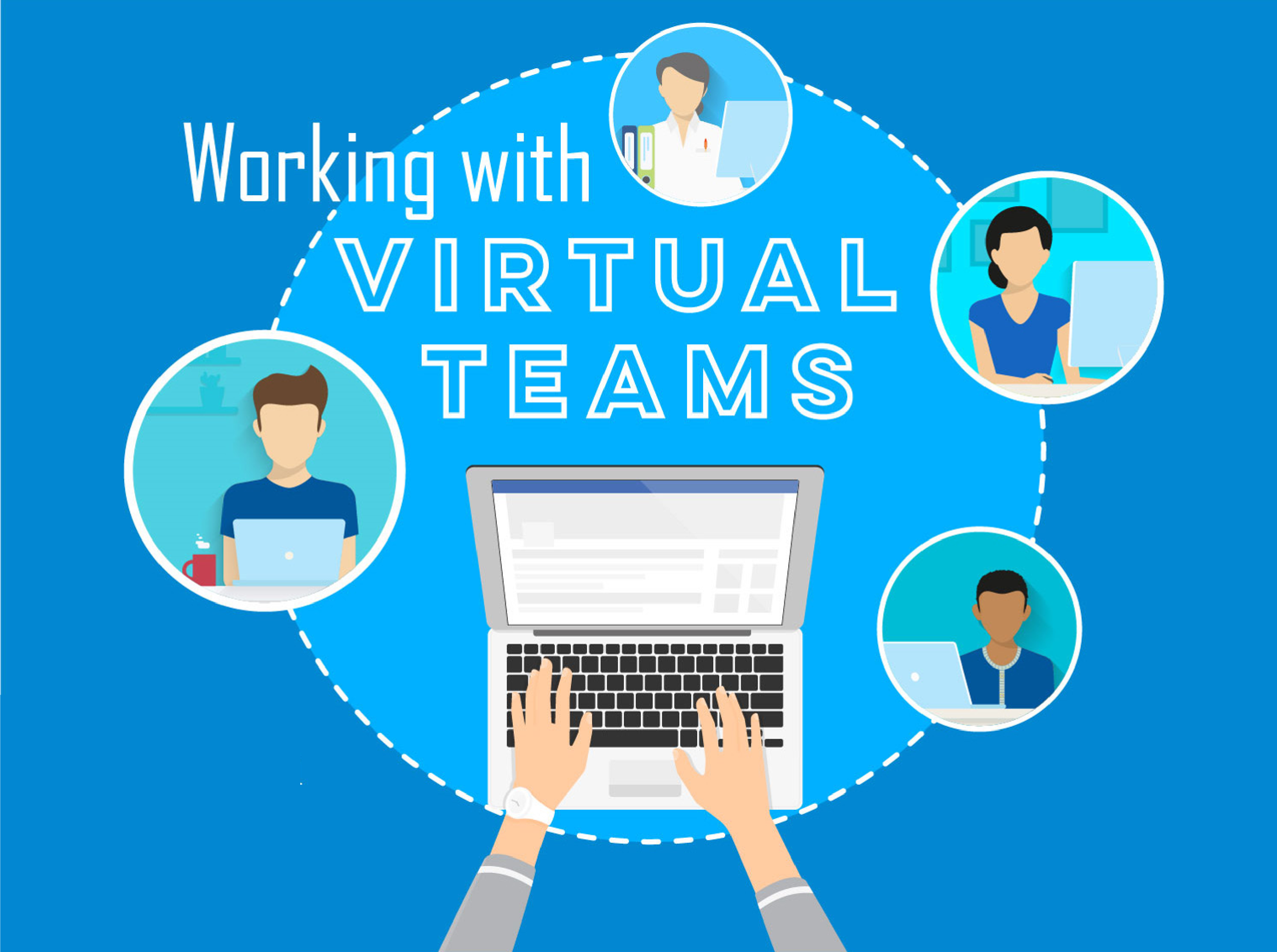 working with virtual teams graphic